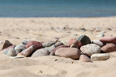 Sand, sea, stone, summer, holiday Royalty Free Stock Photography