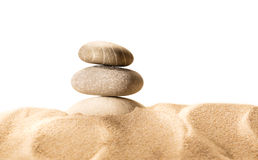 Sand and sea stones in closeup Royalty Free Stock Photo