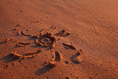 Sand sea surf Royalty Free Stock Photography