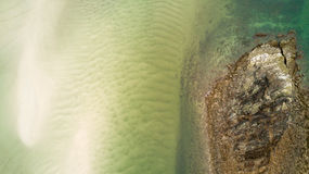 Sand and sea top view Royalty Free Stock Image