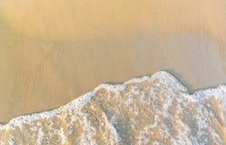 Sand and sea. Waves were crashing onto the beach royalty free stock photos
