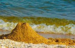Sand on the seashore Royalty Free Stock Photos