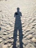Sand shadow. Beach on France Stock Photo
