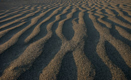 Sand Shadows. Shadows in the sand of a NZ river royalty free stock image