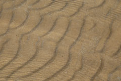Sand in shallow sea Royalty Free Stock Photography
