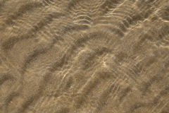 Sand in shallow sea Royalty Free Stock Image
