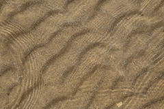 Sand in shallow sea Royalty Free Stock Images