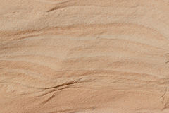 Sand shaped by the wind Royalty Free Stock Photos