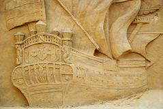 Sand ship Royalty Free Stock Photography