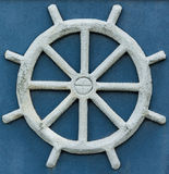 Sand Ship Wheel. Ship wheel made of sand royalty free illustration
