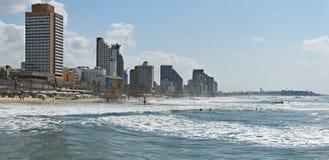 Sand shore in Tel-Aviv, Israel Stock Photography