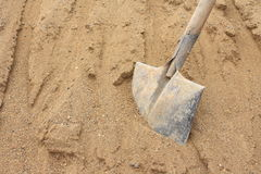 Sand and shovel Stock Photo