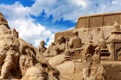Sand skulpterar festival i Chumphon Royaltyfria Foton