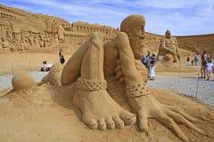 Sand-Skulptur Stockfotos