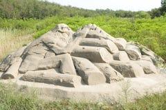 Sand-Skulptur Stockfotografie