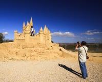 Sand-Skulptur Lizenzfreies Stockfoto