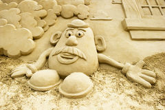 Sand-Skulptur Stockbild