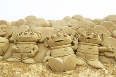 Sand-Skulptur Lizenzfreie Stockfotografie