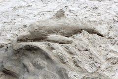Sand-Skulptur, Laguna Beach, Kalifornien lizenzfreies stockfoto