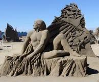 Sand-Skulptur, Parksville, BC lizenzfreie stockfotos
