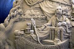 Sand-Skulpturen - Charon Lizenzfreie Stockfotos