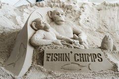 Sand-Skulpturen am Pier 60 Sugar Sand Festival Lizenzfreie Stockfotos