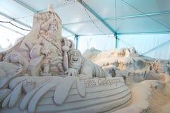 Sand-Skulpturen am Pier 60 Sugar Sand Festival Lizenzfreies Stockbild