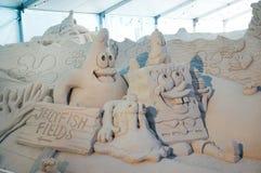 Sand-Skulpturen am Pier 60 Sugar Sand Festival Stockbild