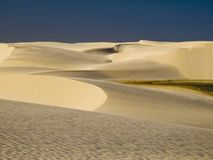Sand and sky. Dunes of Lençois Maranhenses in Brazil Royalty Free Stock Images