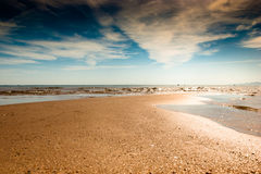 Sand, sky and  Red  Sea. Royalty Free Stock Image