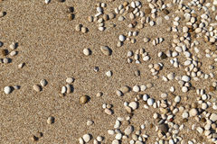 Sand and small pebbles Royalty Free Stock Images