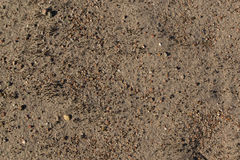Sand with small stones. Stock Photo