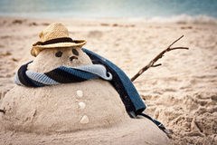Sand snowman Stock Image