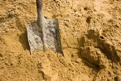 Sand spade Royalty Free Stock Photography