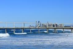 Sand-Spucken in Southport, Australien Lizenzfreie Stockfotos