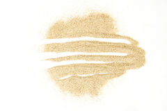 Sand stains isolated on white background. stock photos