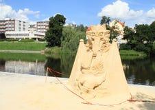 Sand statue in Pisek stock photos