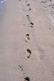 Sand step marks Royalty Free Stock Images