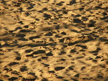 Sand with Steps and Shadows Royalty Free Stock Photo