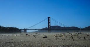Sand Stom near Golden Gate Bridge Stock Photos