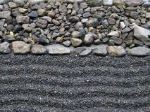 Sand and stone stock photography