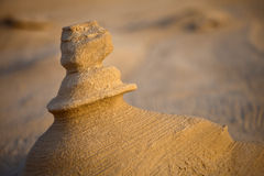 Sand Stone. Macro of sand stone in the desert with shallow depth of field Stock Image