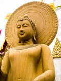 Sand stone Buddha statue in Thailand. Stock Photos