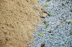 Sand & Stone for Building material. Building material is any material which is used for construction purposes. Many naturally occurring substances, such as Stock Image