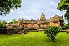 Sand stone castle, phanomrung in Buriram province, Thailand. Stock Photos