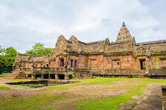 Sand stone castle, phanomrung in Buriram province, Thailand. Stock Images