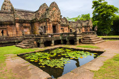 Sand stone castle, phanomrung in Buriram province, Thailand. Royalty Free Stock Images
