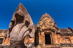 Sand stone castle, phanomrung in Buriram province, Royalty Free Stock Images