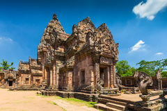 Sand stone castle, phanomrung in Buriram province Royalty Free Stock Image