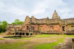 Sand stone castle, phanomrung in Buriram province, Thailand. Royalty Free Stock Image